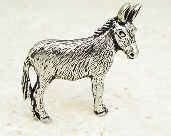 Donkey Tie Pin, Antiqued Pewter Tie Tack Pin