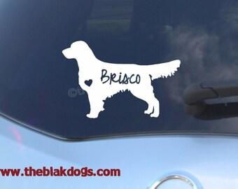 Golden Retriever Silhouette Vinyl Sticker - personalized Car Decal