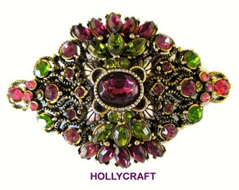 Hollycraft Statement Pin * Multicolor Statement Brooch * Vintage Hollycraft * Gift For Her