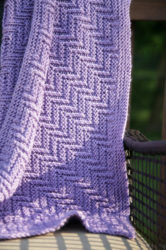 Ziggy Zaggy Reversible Blanket Knitting Pattern Baby To Adult