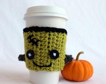 Frankentein Monster Coffee Sleeve Cozie - Halloween at Julian Bean