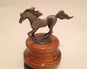 Pewter Horse Music Box