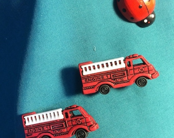 Cute Transportation Fire ENGINE Fire Rescue Clog Shoe Charms