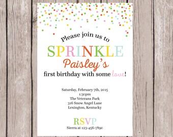 Boy confetti birthday invitation thank you print printable printable sprinkle birthday invite birthday party invite birthday invite birthday invitation filmwisefo