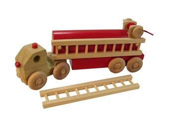 Wooden Firetruck