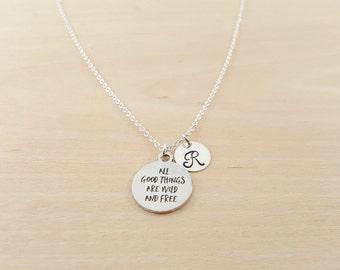Aller guten Dinge sind Wild und frei - Personalisierte Halskette - erste Halskette - Modeschmuck - personalisiert - Geschenk für Sie