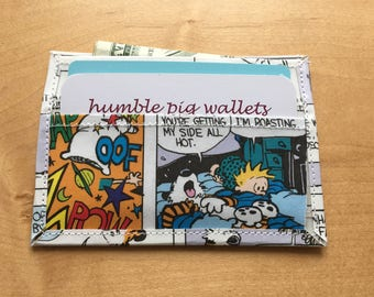 OOF! Calvin and Hobbes Cardholder -- Ready To Ship