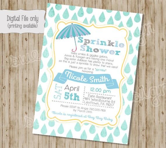 Baby Boy Shower Invitation, Baby Sprinkle Invitation, Sprinkle Baby Shower  Invitation, Sprinkle Shower