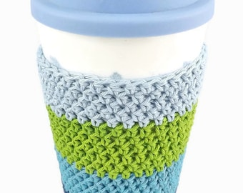 Travel Mug Cosy, Cup Sleeve, Coffee Shop, Mug Wrap, Gift for Coffee Lover, Commuter Present, Cup Cosy, Tea Lover, Cup Warmer, Mug Hug,