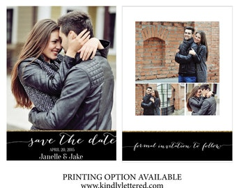 Save-the-Date-Custom Photo Card-Digital File-Printable Invitations-5x7 Digital File-Front & Back-Photo Card-Announcement Invites-012