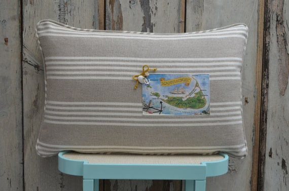 Nantucket Island Postcard Pillow  (available in 3 styles and 2 prices)