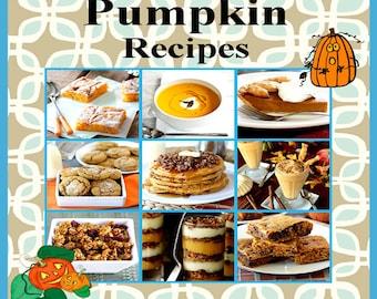 630 Pumpkin Recipes E-Book Cookbook Digital Download