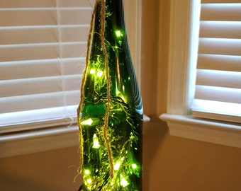 Green Bohemian Bottle Lamp