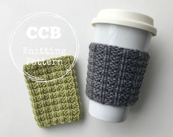 Greer Coffee Cozy / Cup Sleeve PATTERN - 2 Sizes