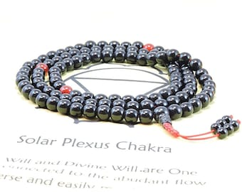 Black Onyx Tibetan Buddhist Mala - 108 Beads for Meditation