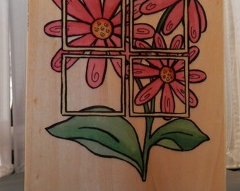 Flowers Rubber stamp