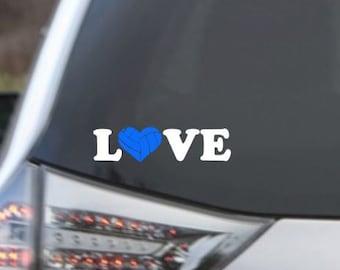 Love Volleyball Car Decal, Volleyball Car Decal, Car Decal, Volleyball Decal