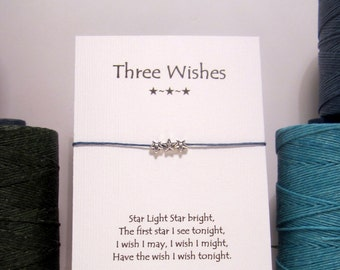 Three Wishes Silver  Wish Bracelet