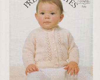 Baby Knitting Patterns Baby Cardigan Pattern Download Instant Download Baby Sweater Baby Knits Baby Knit Pattern PDF Pattern