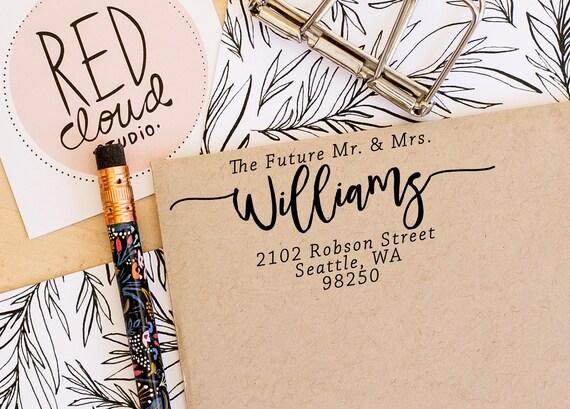 Return Address Stamp Future Mr Mrs Stamp Custom Stamp Wedding