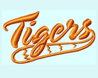 Word TIGERS with tail Embroidery Designs   INSTANT DOWNLOAD