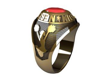 10 kt Gold Ladies School Ring