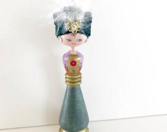 Vintage Doll Japanese Kokeshi Arabia Exotic Souvenir Doll Arabian Nights