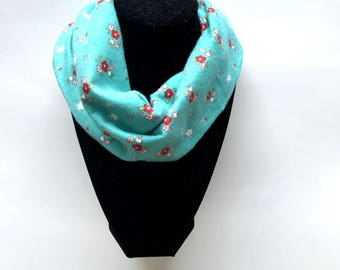 Aqua Baby Infinity Scarf - Aqua Toddler Infinity Scarf - Aqua Scarves - aqua and red arrow - Scarves for boys - Infinity scarves