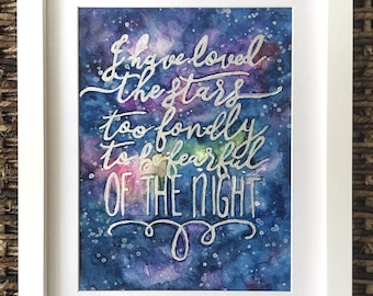 Galaxy Painting with Quote