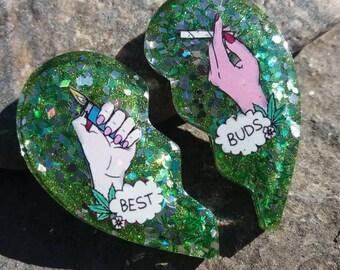 Green best buds BEST FRIEND charm set!
