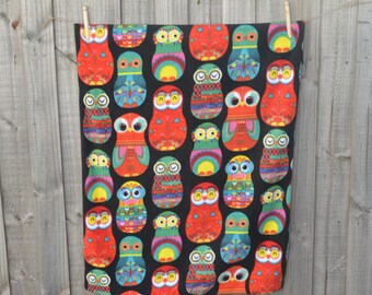 Baby blanket - Fleece blanket - Toddler blanket - Baby shower gift - Receiving blanket - Pram blanket - Babushka - Owls - Baby Photo Prop