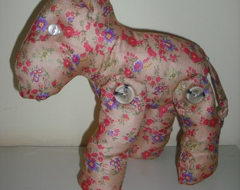 Horse beautifully hand made pretty colours buttoned legs