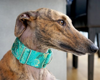 MARVELOUS - Special occasions martingale collar, Fancy sighthound collar, Greyhound collar