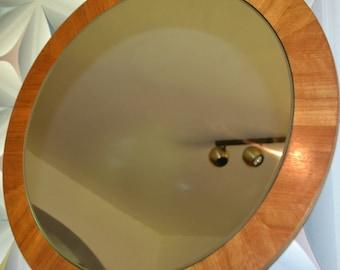 Vintage Mirror 60s Brown wood