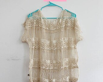 Crochet Lace Beach Cover Up