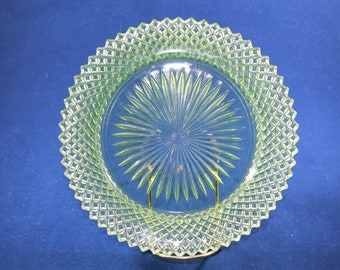Miss America Green Bread and Butter Plate