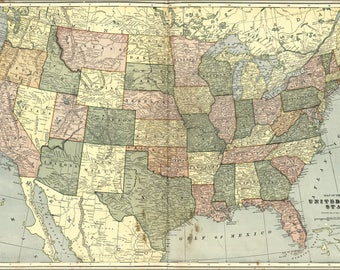 Poster, Many Sizes Available; Map Of United States Of America 1906