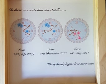 Date and time childrens frames