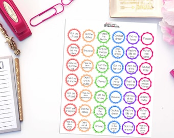 ADULTING BADGES Paper Planner Stickers!