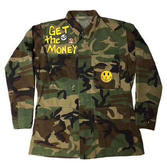 Wu Tang Army Fatigue. Hand painted Fatigue. Wu Tang Clan. Wu Tang. army fatigue. camo. Vintage fatigue. Wu wear. Cash Rules Everything hxc4c47NH2