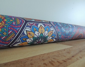 Draft Stopper. room decor. Door or window snake. Draught excluder. House and home accessory. Boho design tile print
