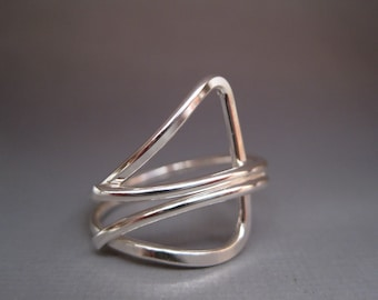 Sterling Silver Angles Ring
