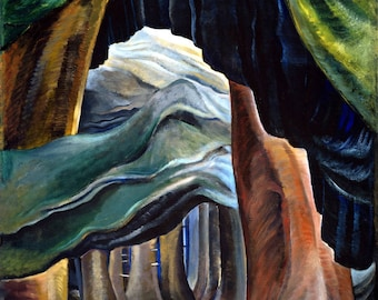 Forest, British Columbia Painting by Emily Carr Art Reproduction