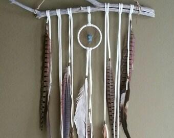 Dream Altar // dreamcatcher,  OAK white dream catcher // boho, home decor, one of a kind, dreamcatcher, gift, spirit tribe