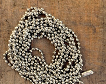 Silver ball chain necklace- DIY JEWELRY