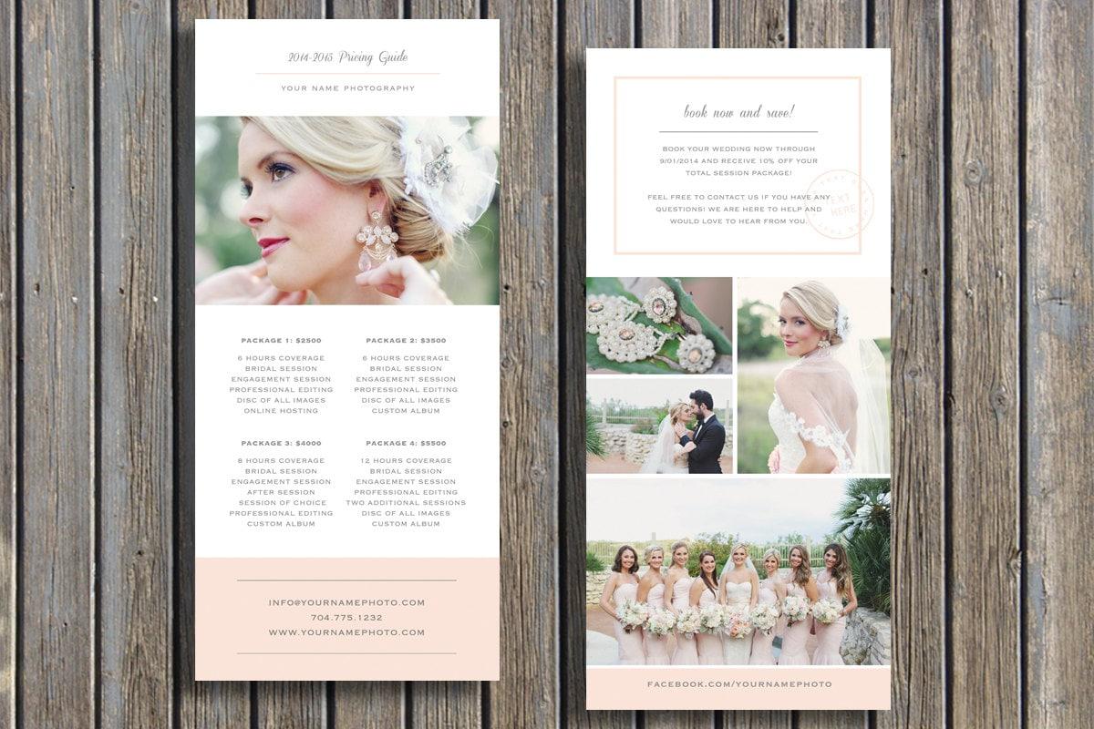 Wedding Photographer Pricing Guide Template Vista Print Rack - Rack card design template