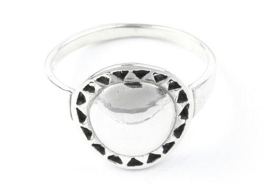 Sterling Silver Sun Ring, Cosmic ring, Space Ring, Nature Ring, Spiritual, Boho Ring, Gypsy Ring
