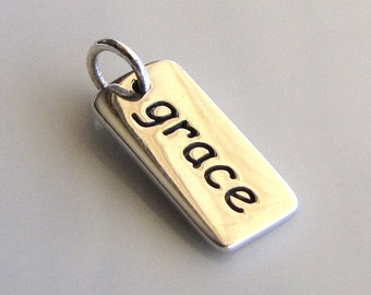 GRACE Sterling Silver Word Charm