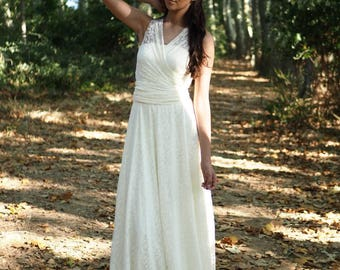 Wedding dress, Boho Wedding dress, Bohemian Wedding dress, Hippie wedding dress, Wedding dress alternative, Grecian Wedding dress, AGGERO