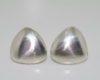 Sterling Silver 3D Triangle Earrings [Stud]